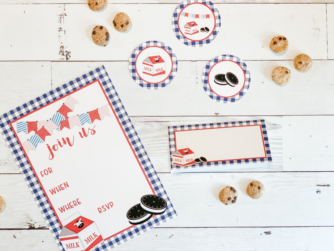 Milk and Cookies Party Printables