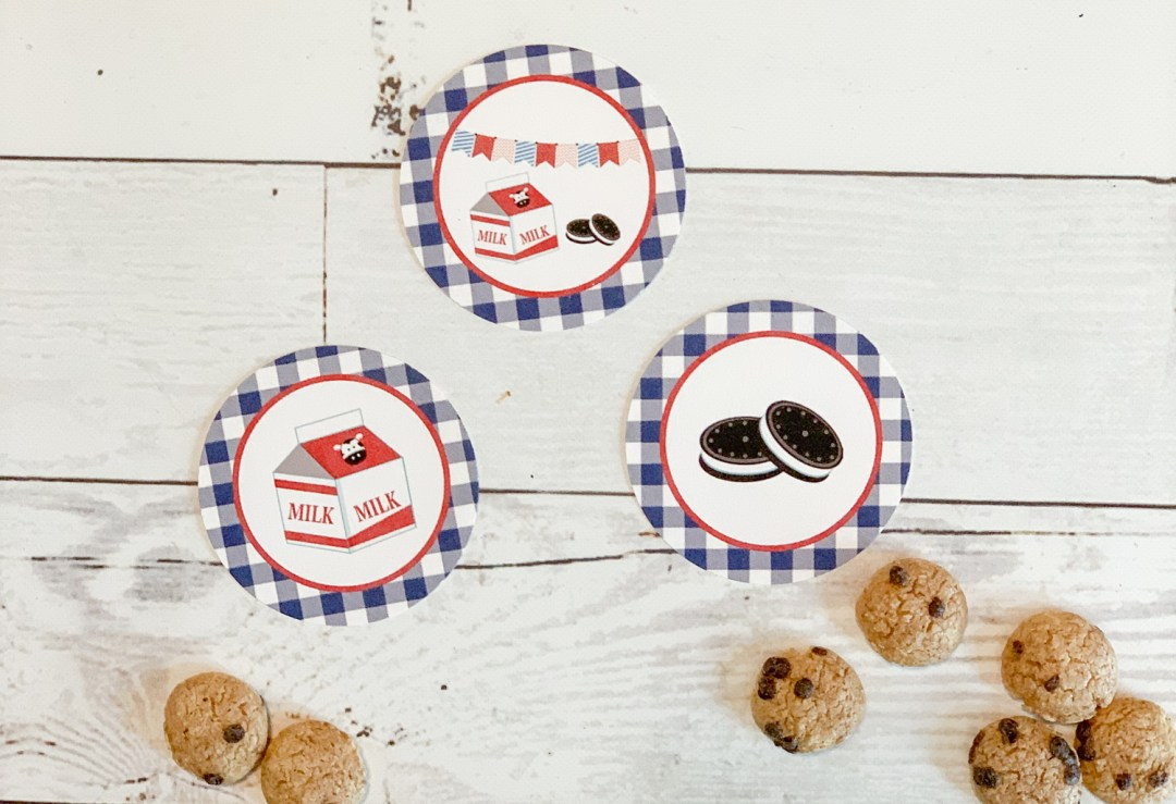 Milk and Cookies Party Circles