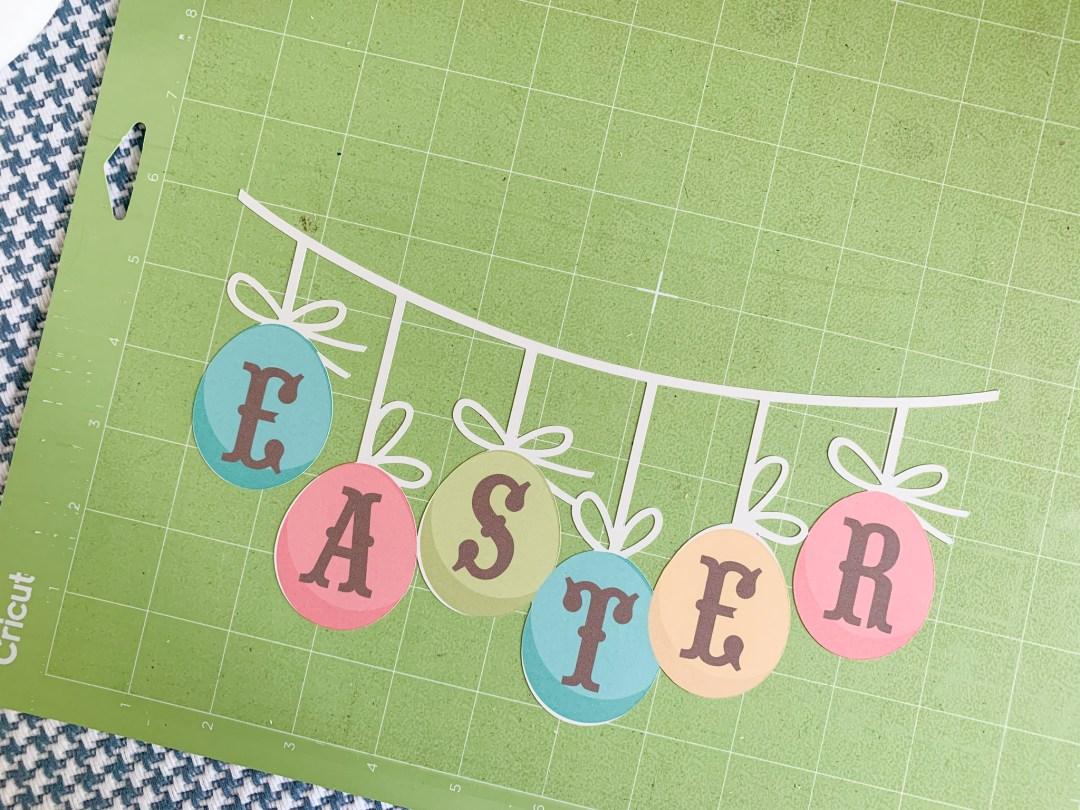 Cricut Cutting Mat Easter Banner