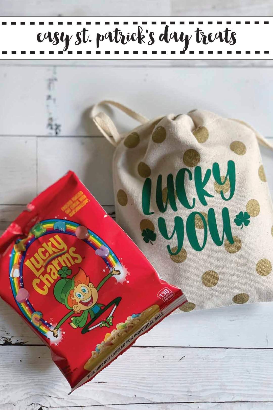 Lucky Charms Cereal Lucky You St. Patrick's Day Bag