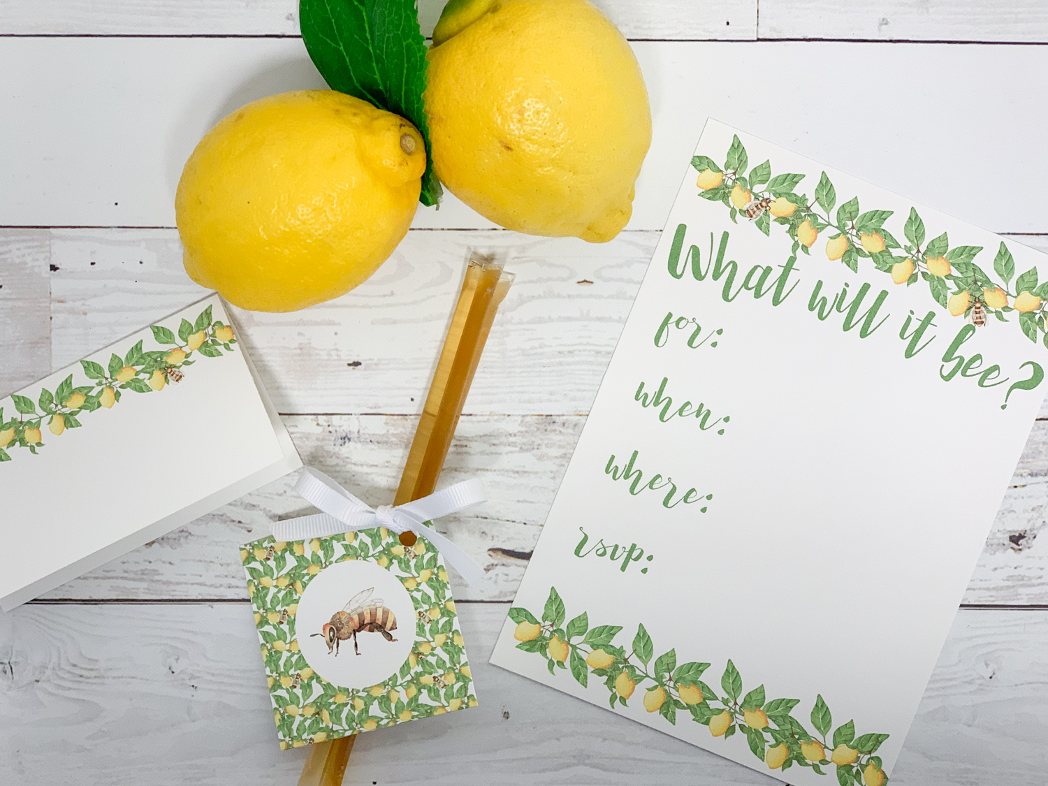 What Will it Bee Baby Shower Party Printables