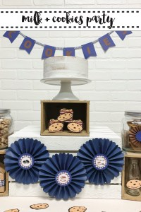 Cookies and Milk Party Dessert Table