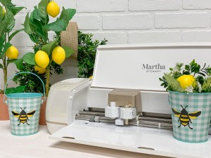 Martha Stewart Cricut Machine Lemon Tree Gingham Bucket