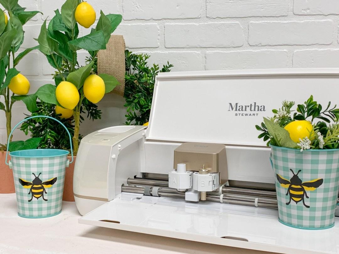 Martha Stewart Cricut Machine Lemon Tree Gingham Bucket