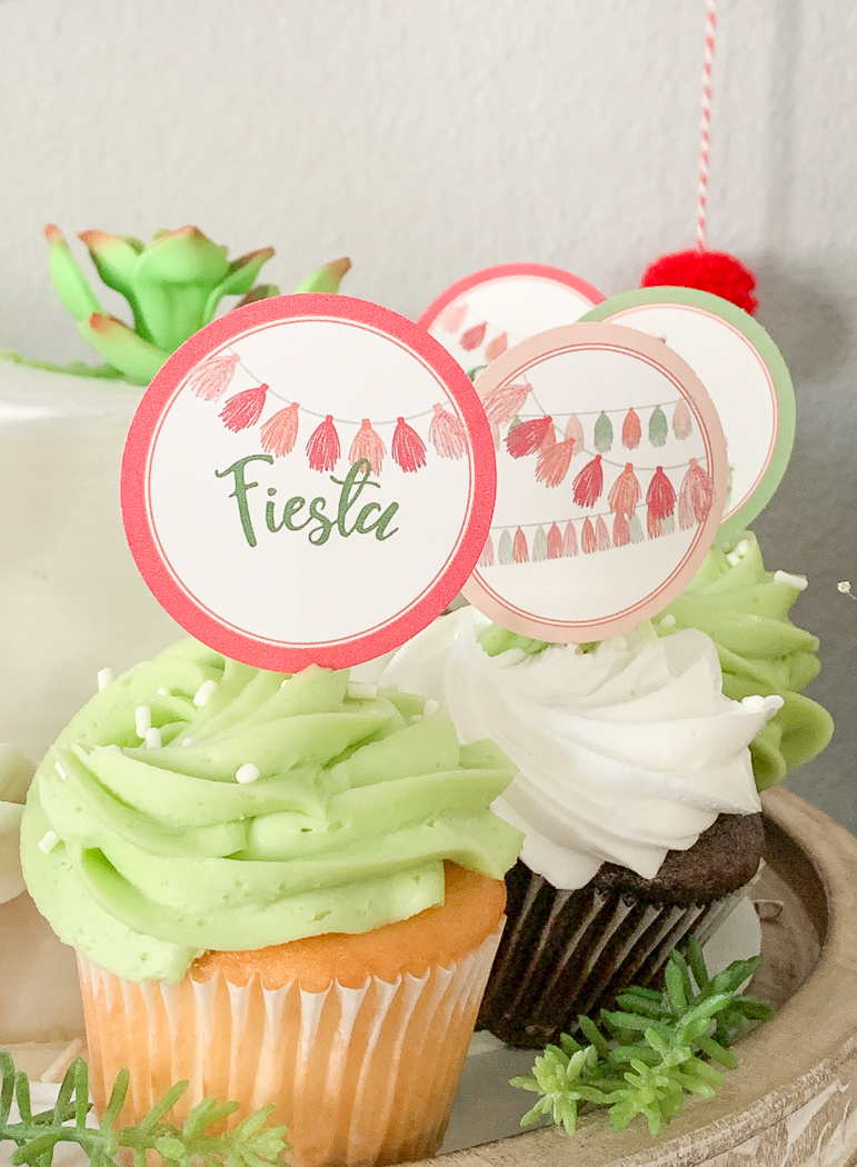 Fiesta Cupcake Toppers