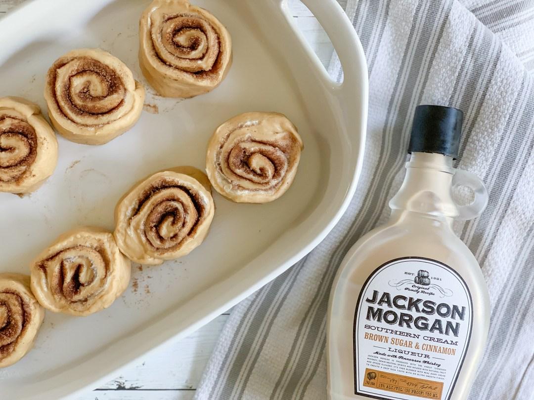 Cinnamon Rolls Casserole Dish Jackson Morgan Southern Cream