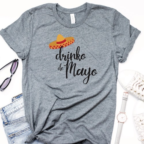 Drinko de Mayo t-shirt sunglasses jeans watch