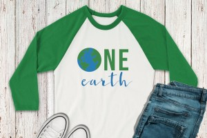 Earth Day Raglan Shirt Jeans