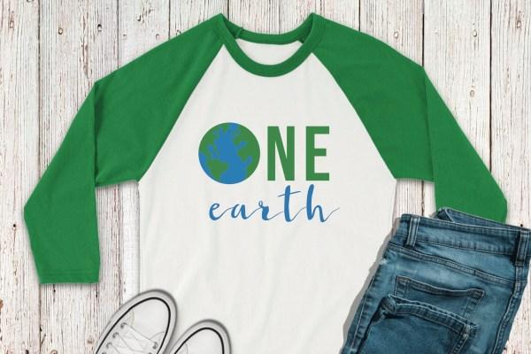 Earth Day Raglan Shirt Jeans