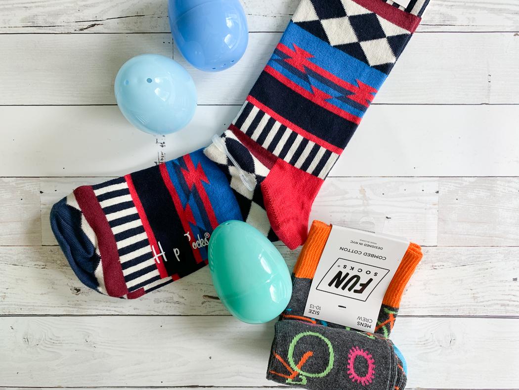 Funky Socks Plastic Eggs