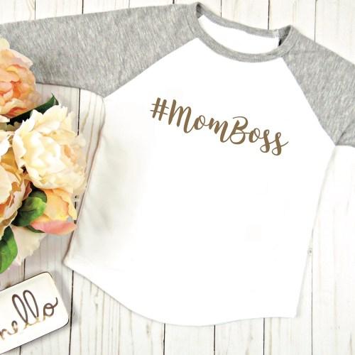 Mom Boss Shirt Flowers