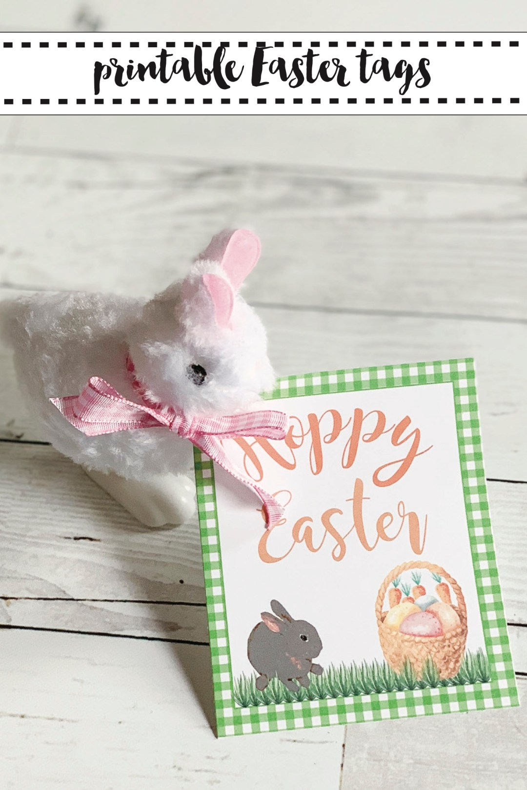 Easter Printable Tag Wind Up Toy Rabbit