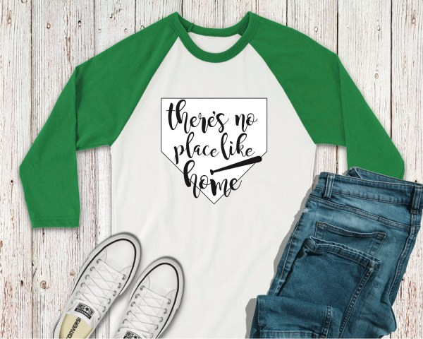 There's No Place Like Home Raglan Shirt