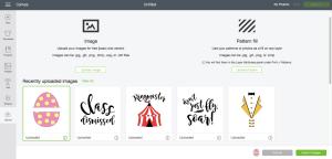 Cricut SVG Upload Screenshot