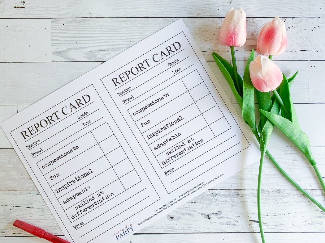 Teacher Appreciation Printable Tulips