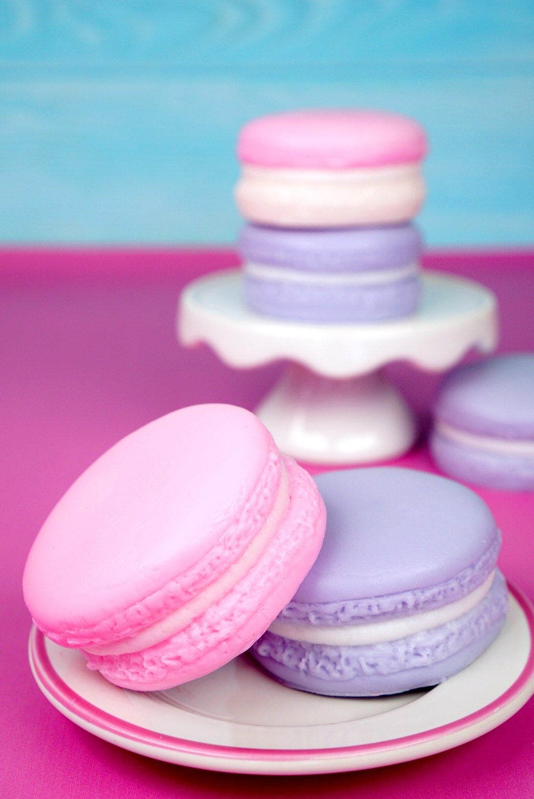Pink and Purple Macaron Soaps