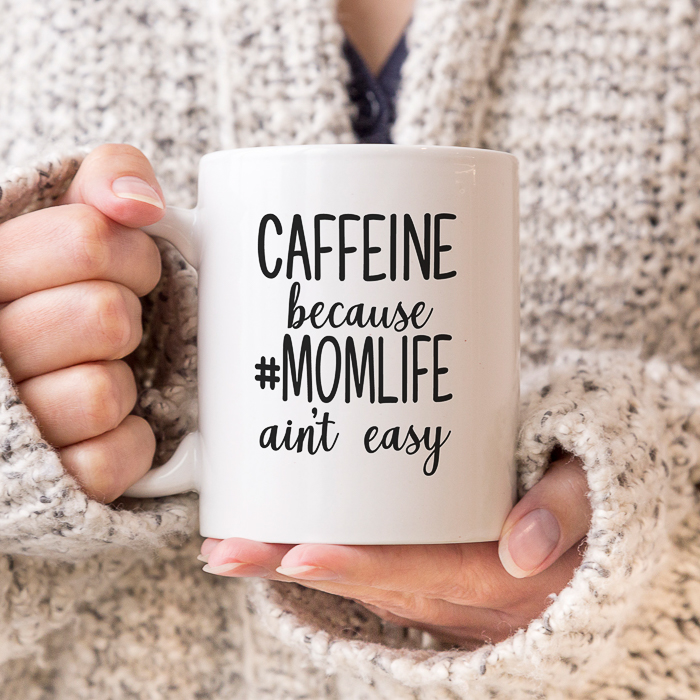 Caffeine #MomLife Coffee Mug