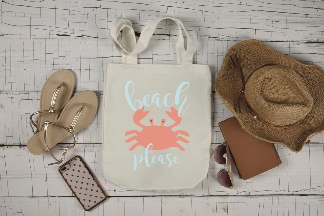 Beach Please Crab Beach Bag