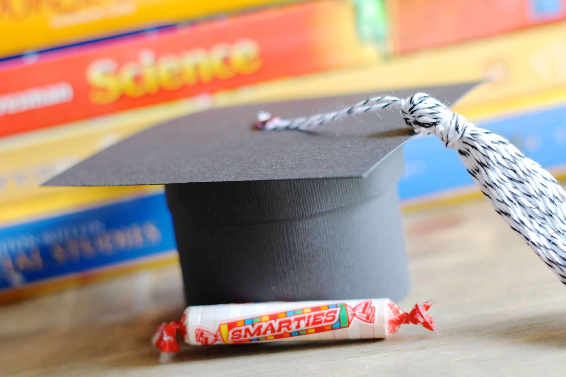 Graduation Cap Gift Box Smarties Candies School Books
