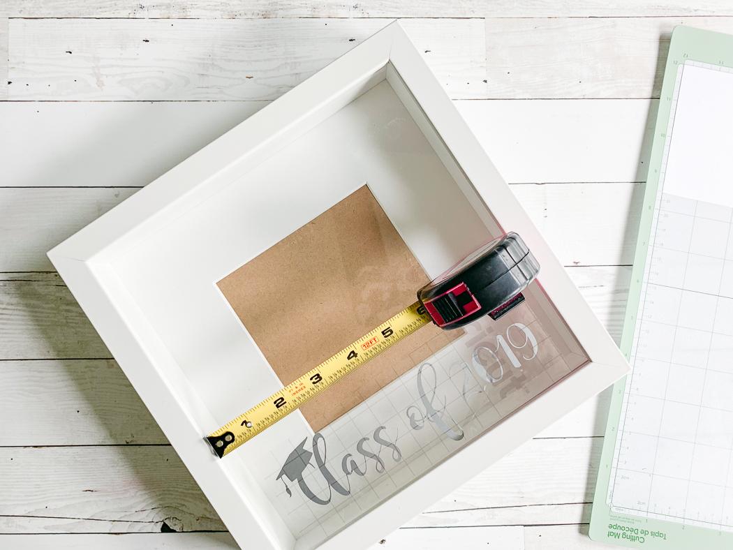 Shadowbox Graduation Frame Tape Measure