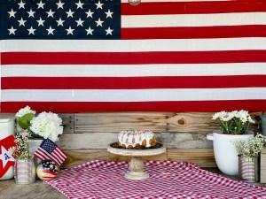 American Flag Cake Flowers