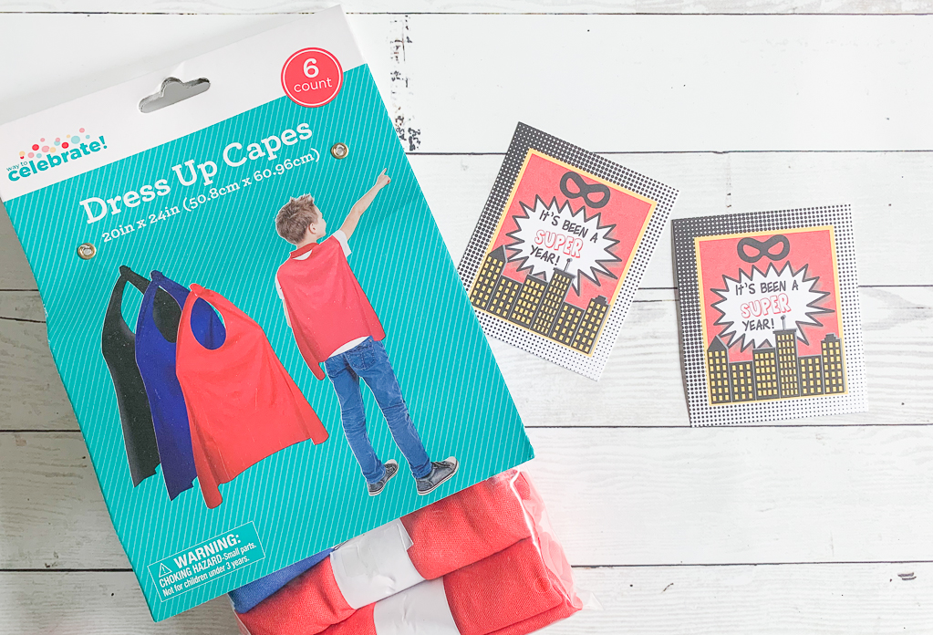 Capes Printable Super Hero Tags
