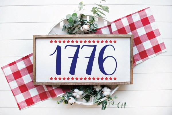 1776 Patriotic Sign