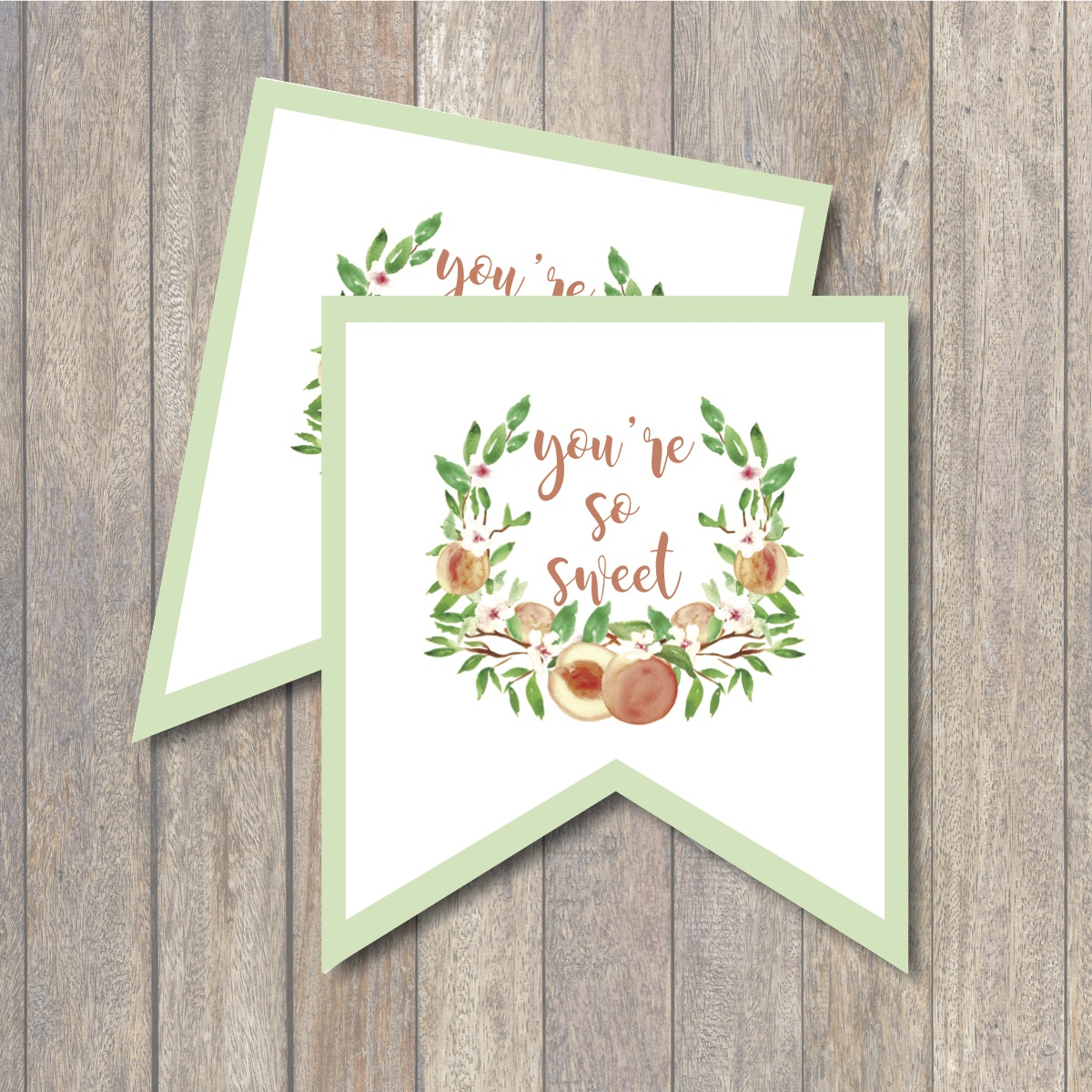 photograph regarding Printable Note Card identified as Youre Thus Cute Peach Printable Notice Playing cards - Day by day Get together Journal