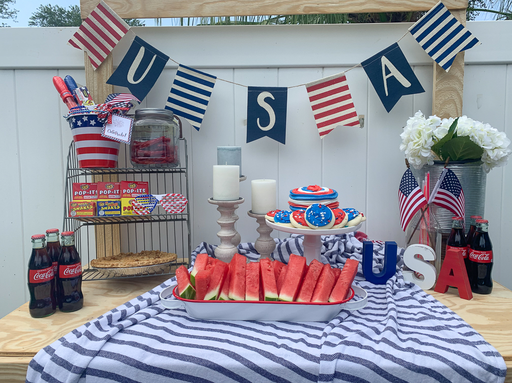 Fourth Of July Party Table