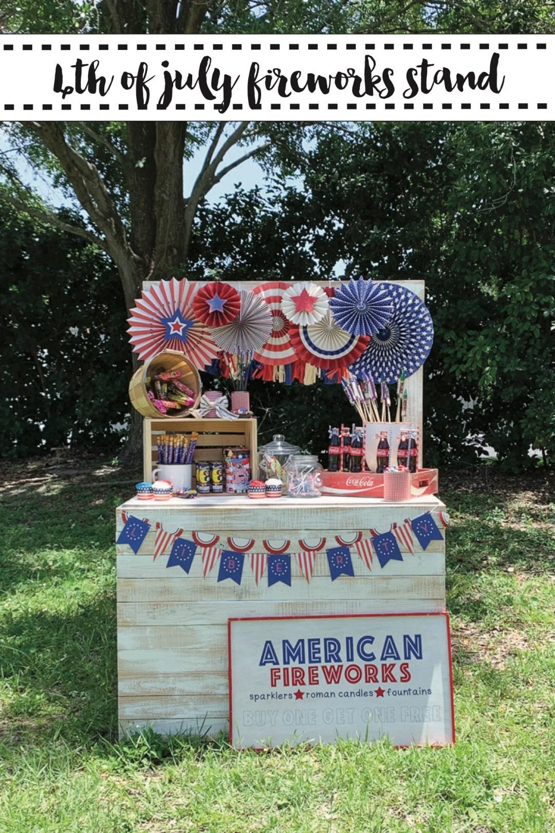 Vintage Patriotic Fireworks Stand
