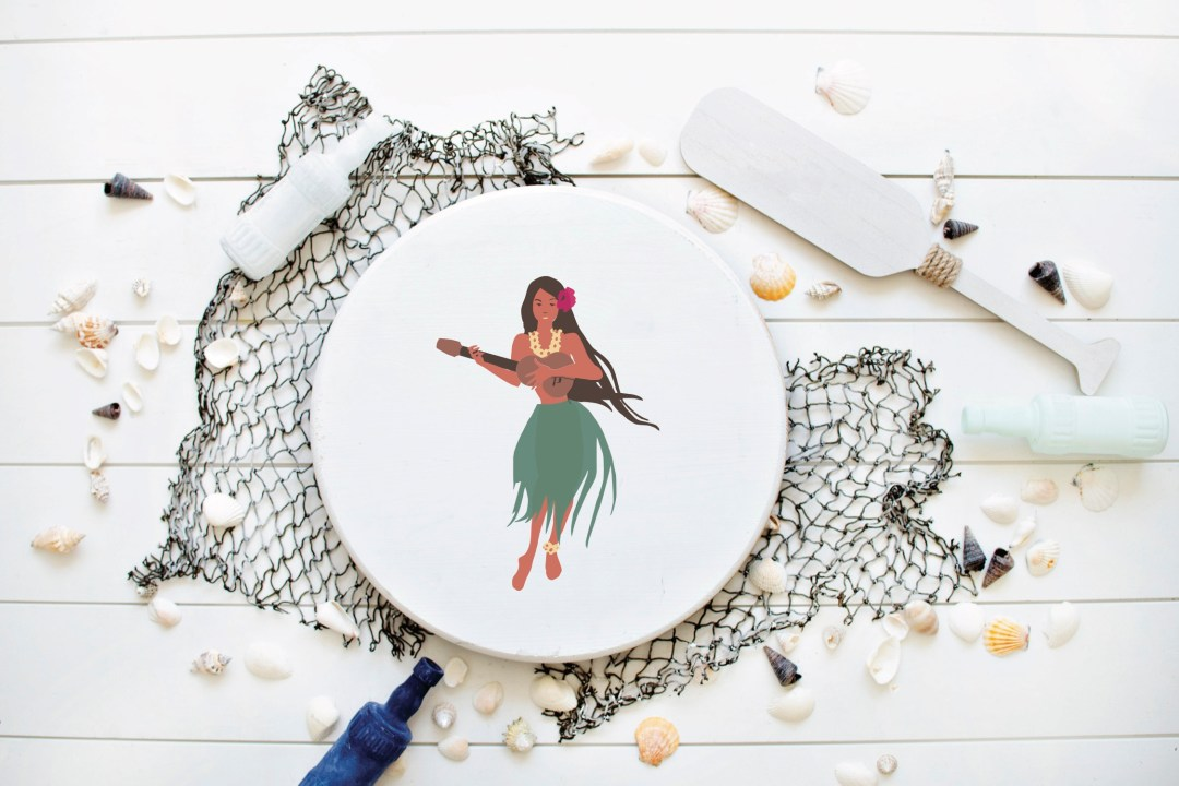 Hula Dancer Wooden Sign