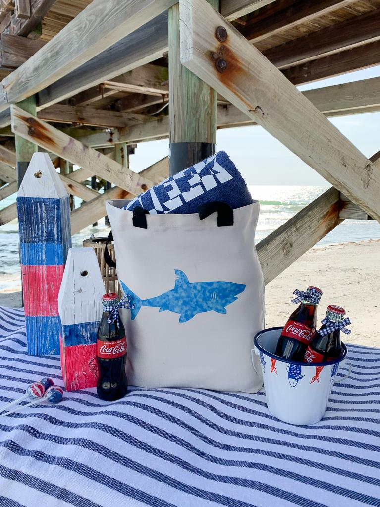 Shark Beach Bag Beach Table