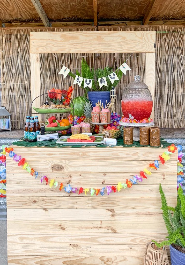 Luau Party Food Stand