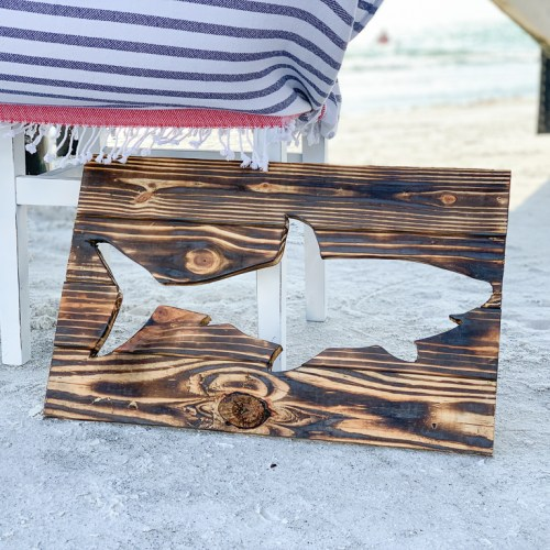 Wooden Shark Sign