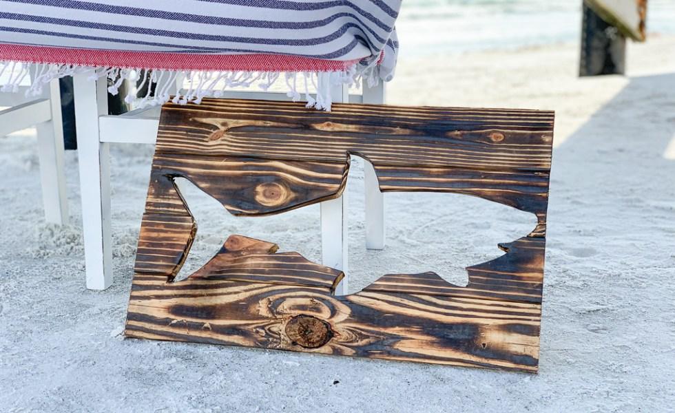 Wooden Shark Sign