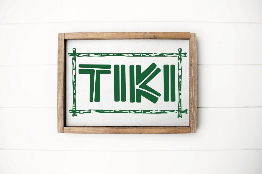 Tiki Sign