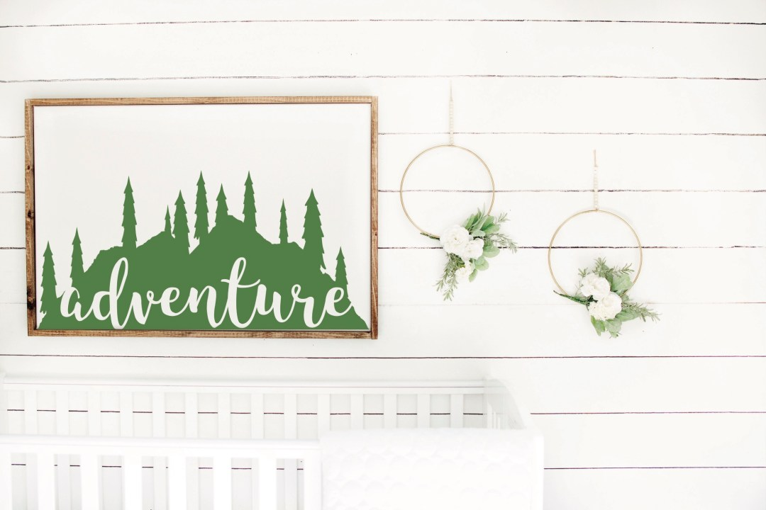 Adventure Nursery Sign