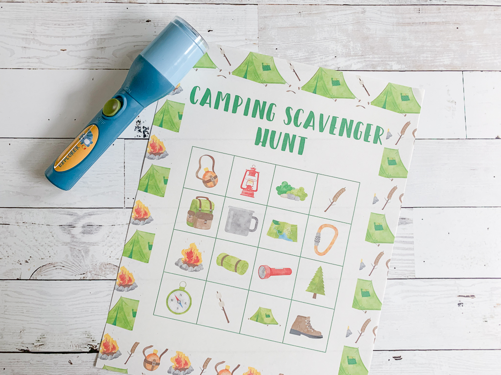 photograph relating to Camping Scavenger Hunt Printable titled Tenting Scavenger Hunt Printable - Daily Social gathering Journal