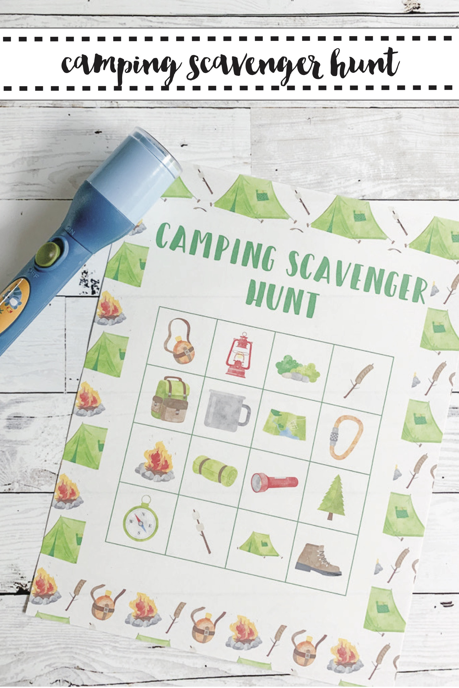 photograph relating to Printable Scavenger Hunt called Tenting Scavenger Hunt Printable - Each day Occasion Journal