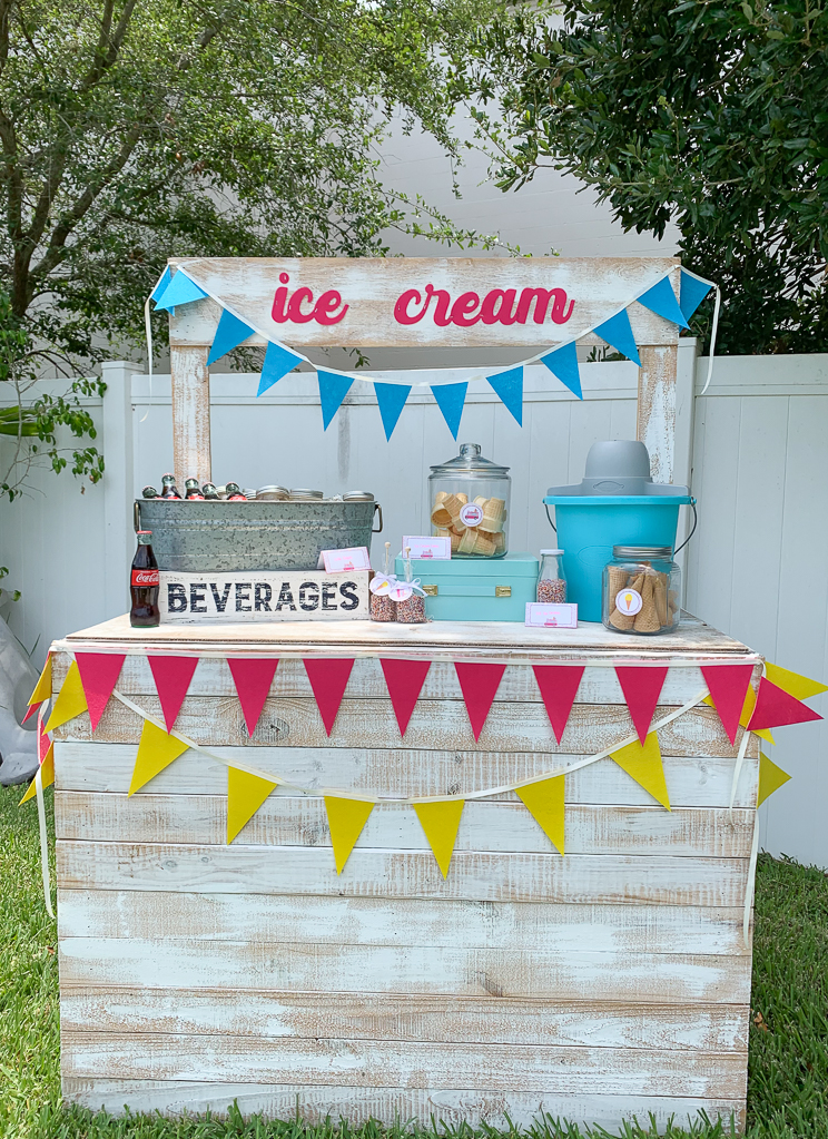 Lemonade Stand Ice Cream Party