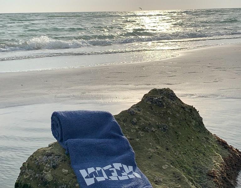 Shark Towel Rocky Beach