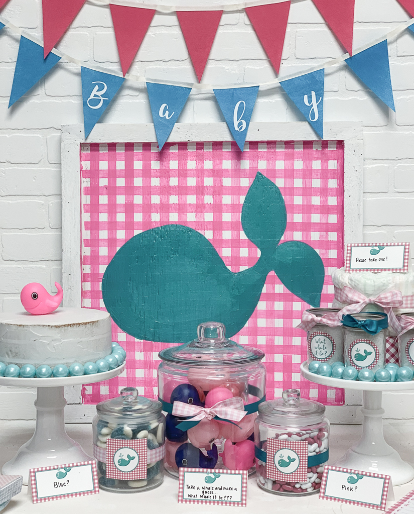 Pink and Blue Whale Baby Shower