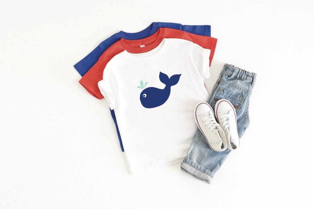 Preppy Blue Whale Shirt