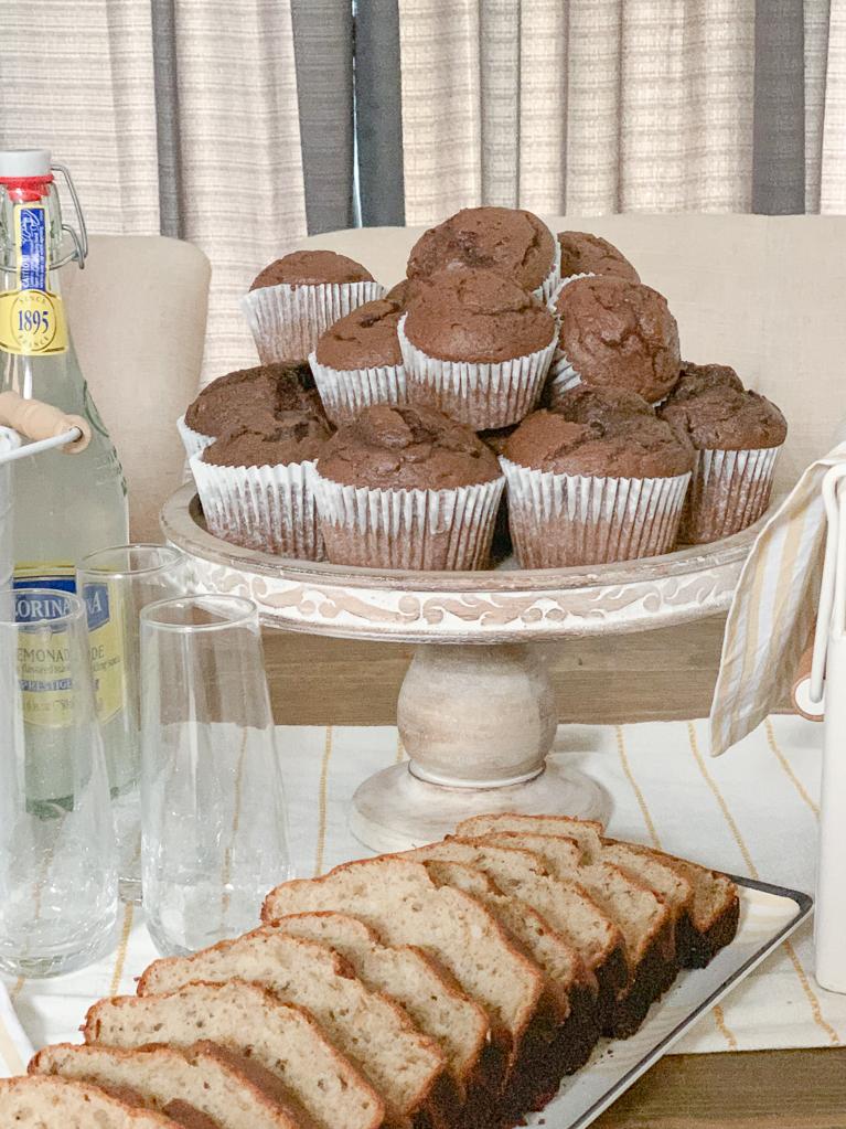 Chocolate Muffins Banana Bread