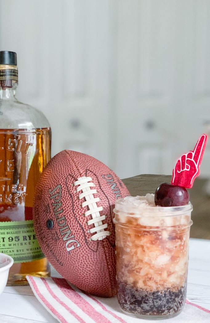 Bourbon Cocktail Football