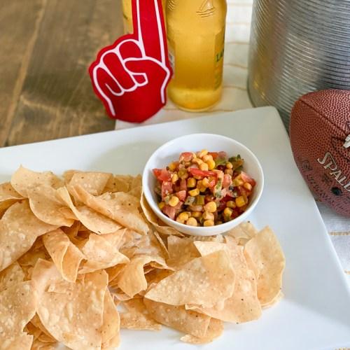 Corn Salsa Corn Chips Football