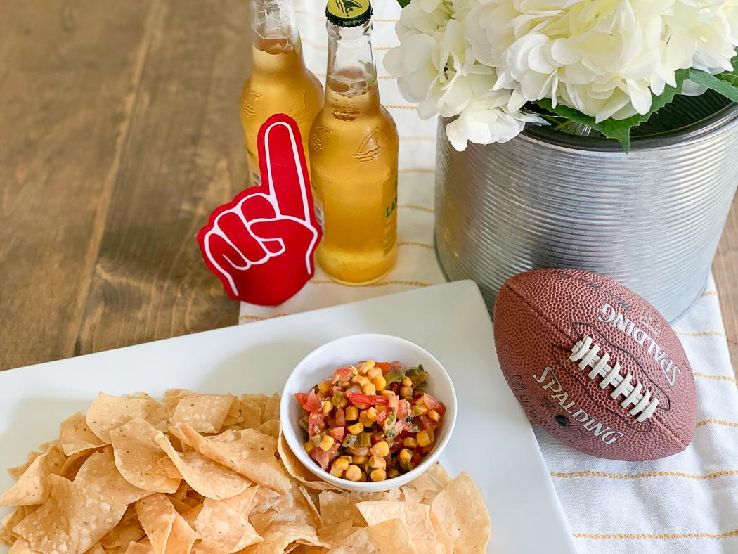 Corn Chips Corn Salsa Football