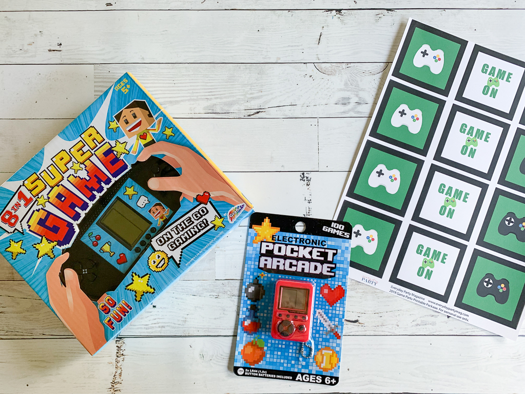 Hand Held Games Printable Party Package