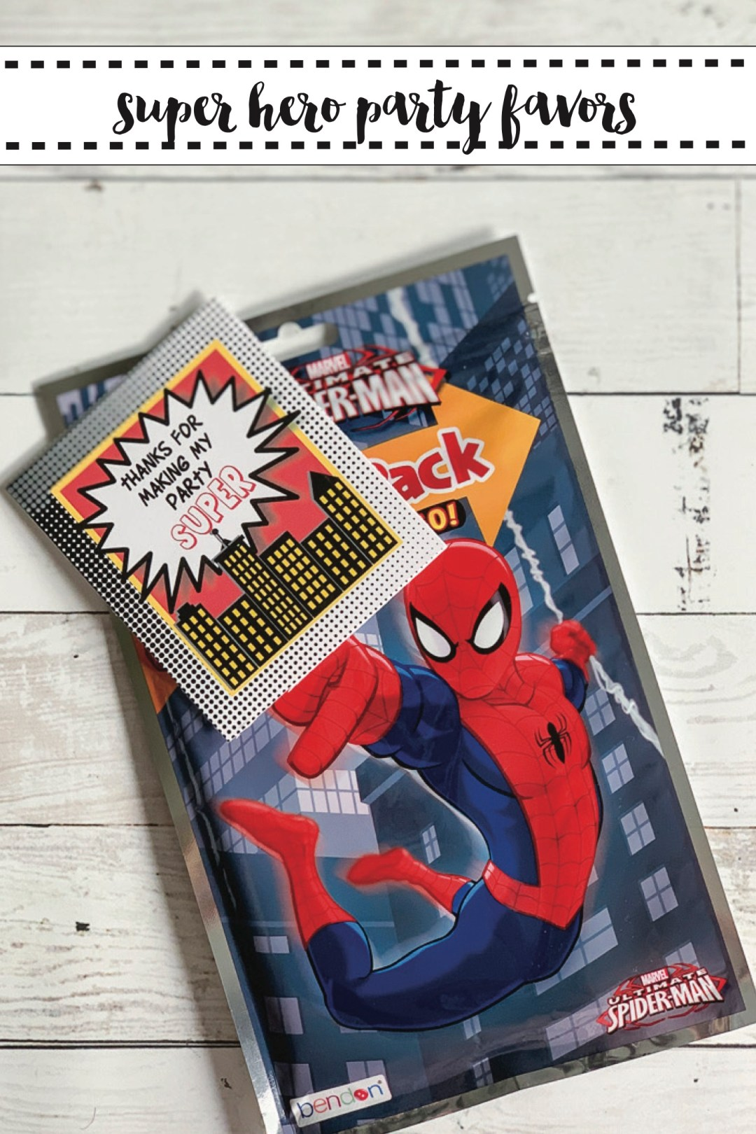 Super Hero Party Favor Idea