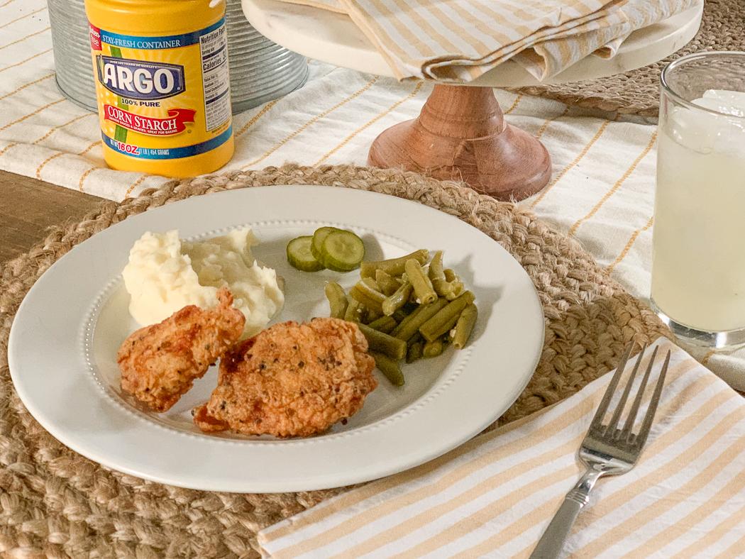 Fried Chicken Dinner Plate